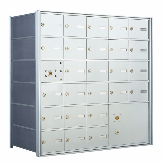 25 Tenant Doors With 1 Master Door And 1 Parcel Locker 1400 Series Usps 4b Approved Horizontal Replacement Mailbox Model 140065pla